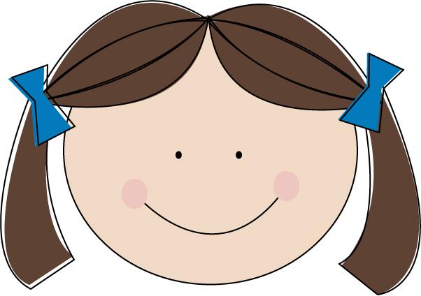 Brown hair girl clipart.