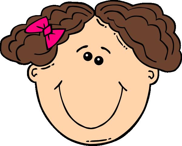 Clip Art Brown Hair Clipart.