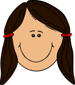 Brown Hair Clipart.