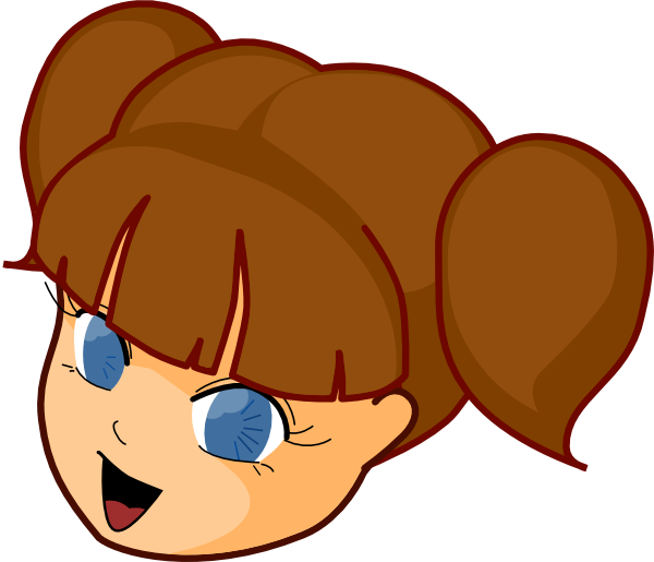 Girl Brown Hair Clip Art at Clker.com.