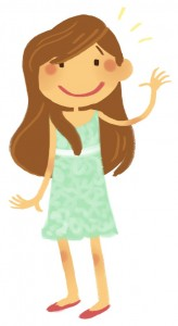 Cartoon Brown Haired Girl.