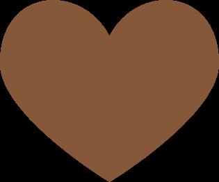 Brown Heart Clip Art.