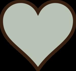 Heart, Green, Brown Clip Art at Clker.com.