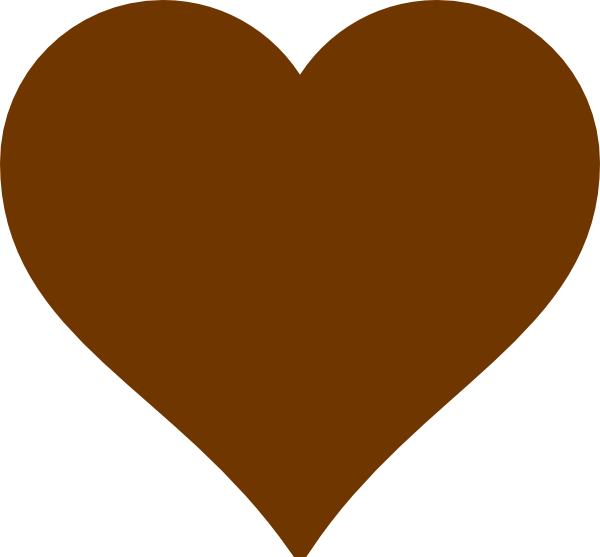 brown heart clipart #19