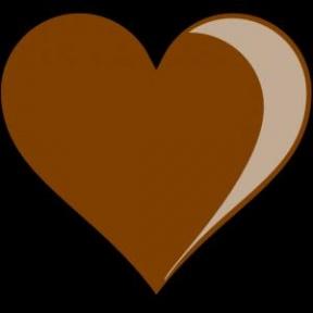 Brown Heart Clip Art At Clker.