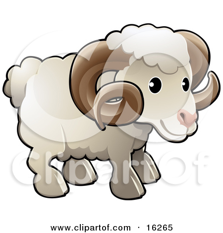 Free Cartoon Sheep Clipart Illustration.