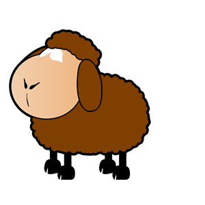 Brown Sheep clipart, cliparts of Brown Sheep free download (wmf.