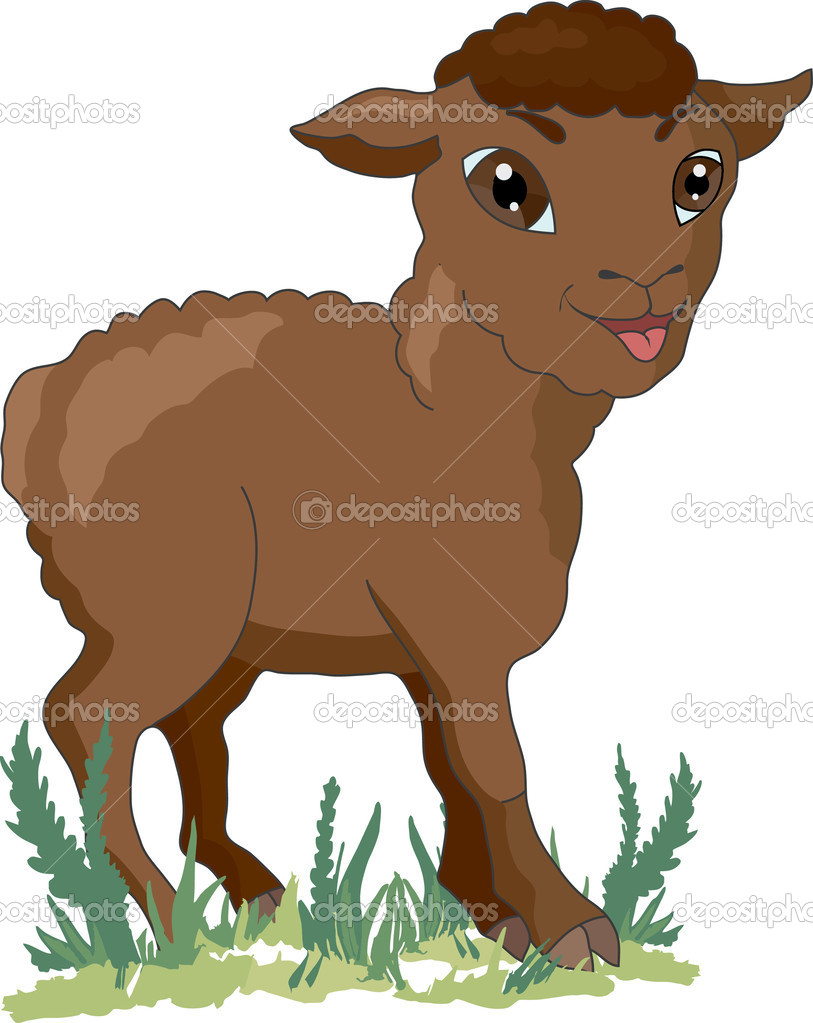 Brown sheep — Stock Vector © Son #34645221.