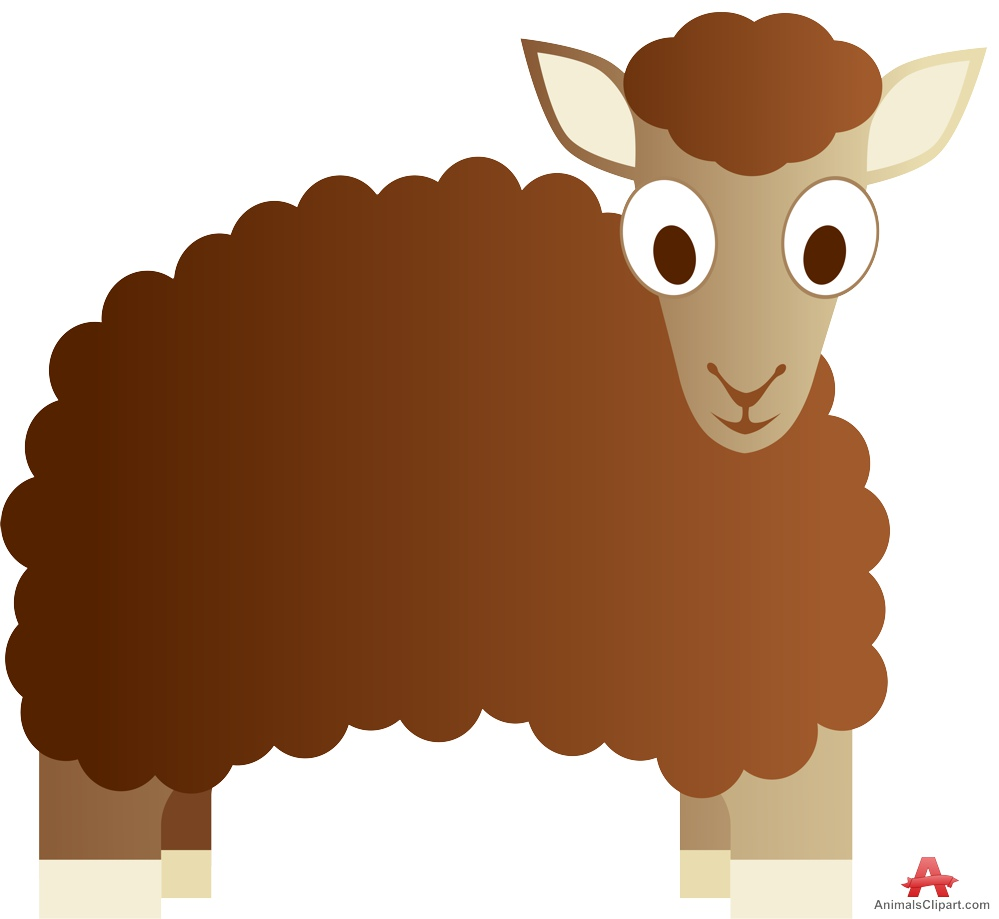 Animals Clipart of lamb.