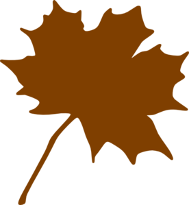 Brown leaf clip art.
