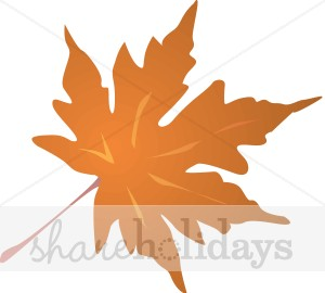 Brown Maple Leaf Clipart.