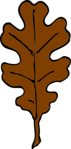 Brown Oak Leaf Clip Art at Clker.com.