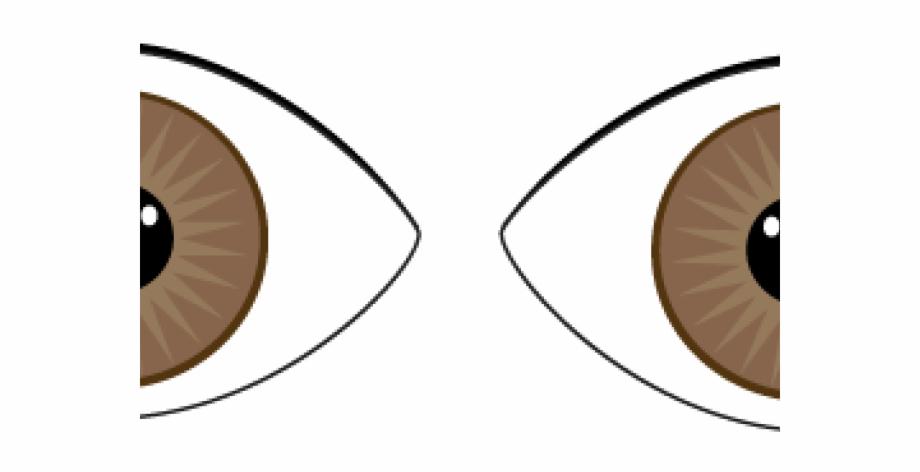 Brown Eyes Clipart Line Art.
