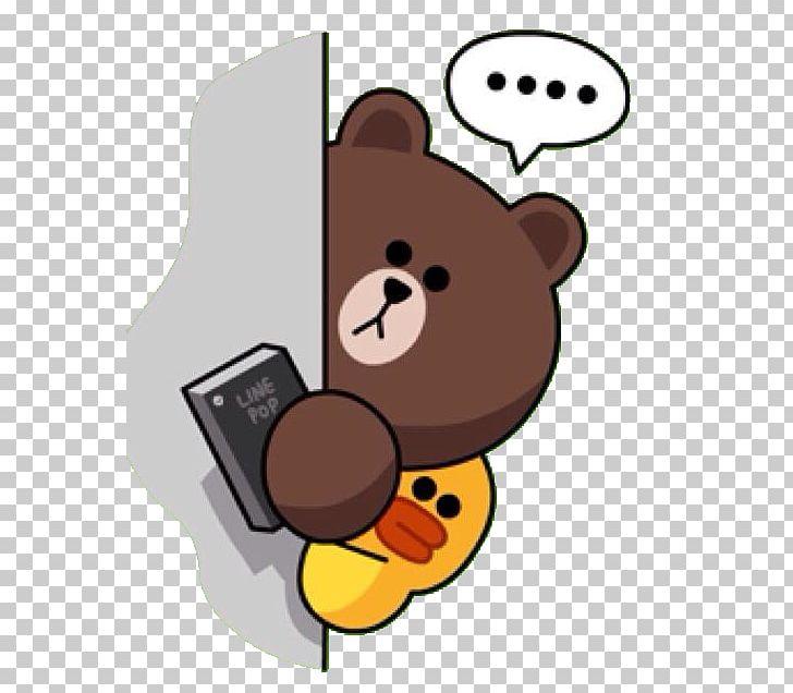 Line Friends Sticker Brown Bear PNG, Clipart, Bear, Brown Bear.