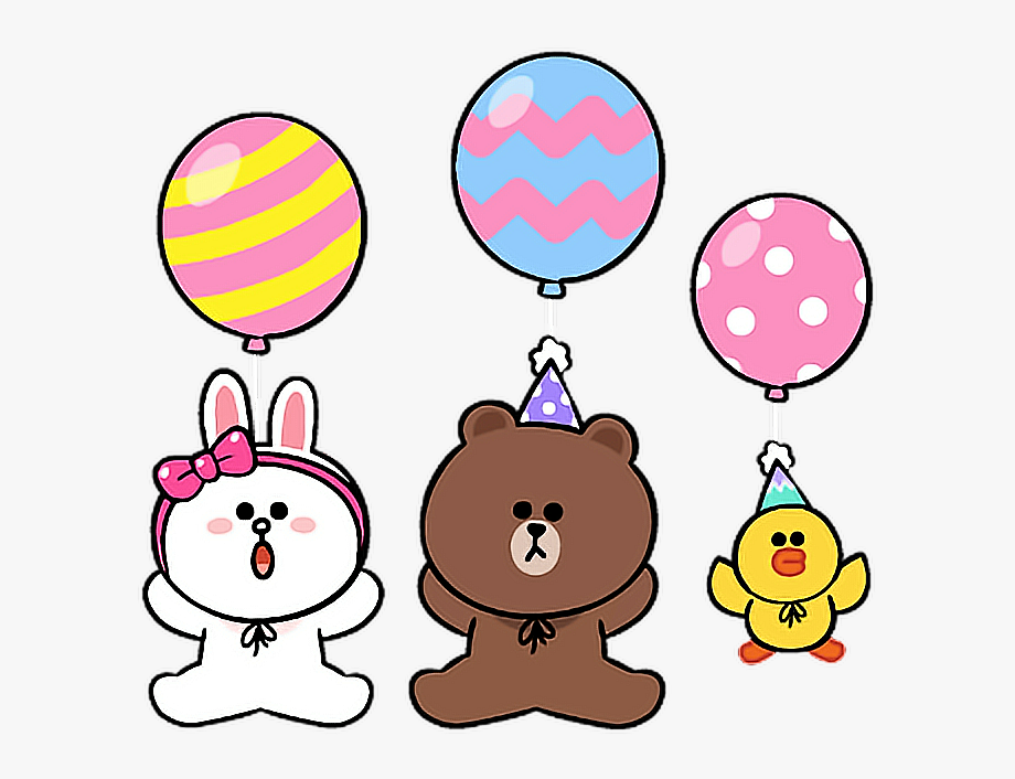 line #cony #brown #sally #birthday #party #balloon.