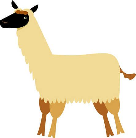Stock Illustration Drawing Of A Llama.