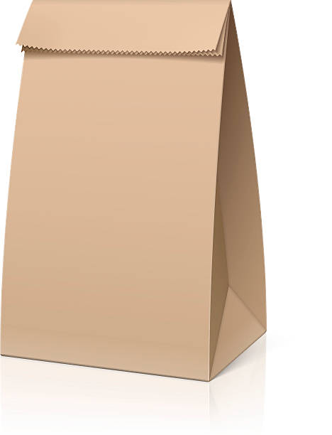 Paper Bag Lunch Clipart.