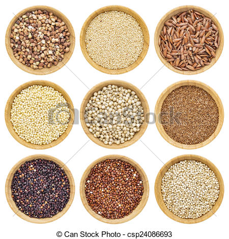 Stock Illustration of gluten free grains.