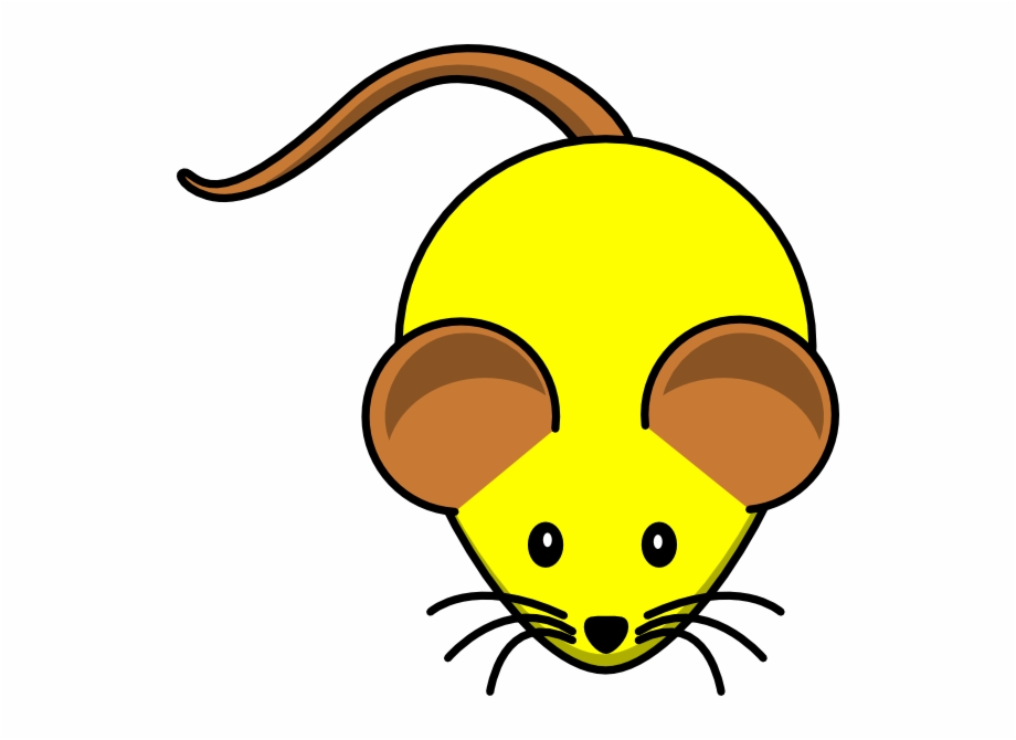 Yellow Mouse W/ Brown Ears Svg Clip Arts 600 X 590.