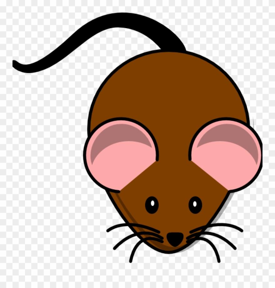 Brown Mouse Lab Clip Art.