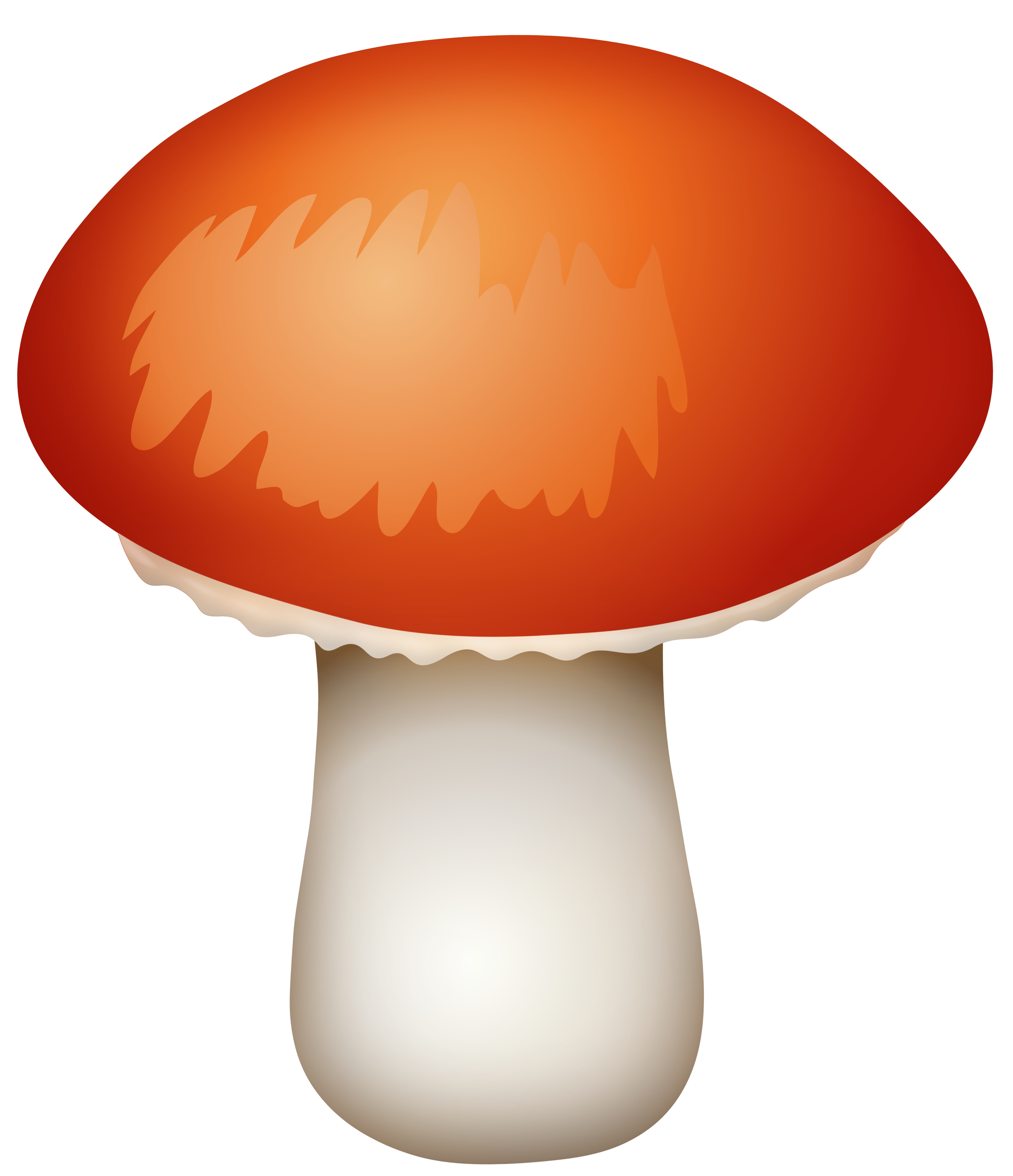 Red Mushroom PNG Clipart.