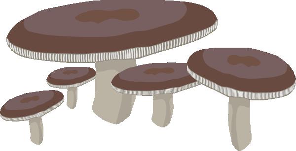 Flat Shaped Mushrooms Clip Art at Clker.com.