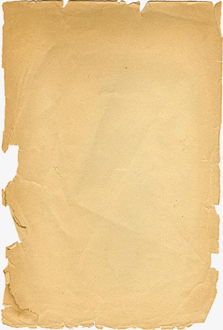 Damaged Vintage Paper, Brown, Writing Paper, Retro Paper PNG.