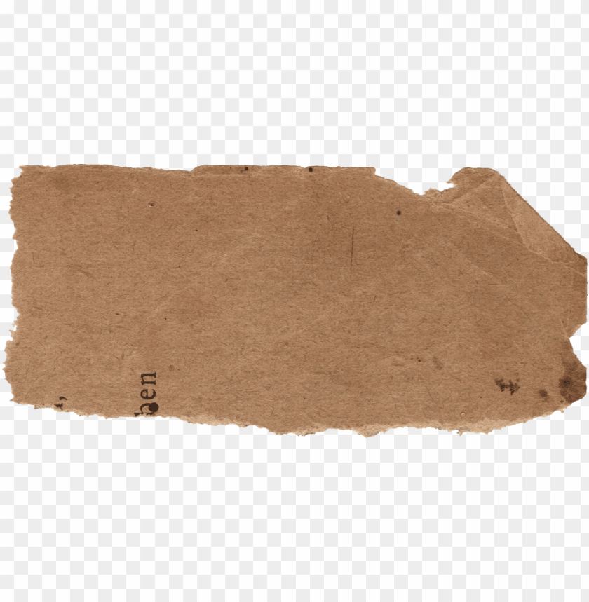 torn brown paper PNG image with transparent background.