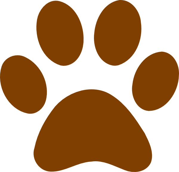 Brown Paw Print Clip Art at Clker.com.