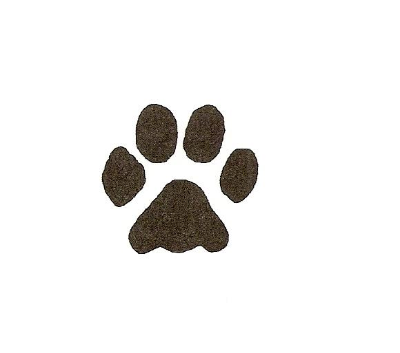 Dog paw prints dog paw print stamps dog prints clip art image.