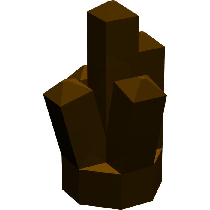LEGO Rock 1 x 1 with 5 Points (15584 / 15585 / 29377).