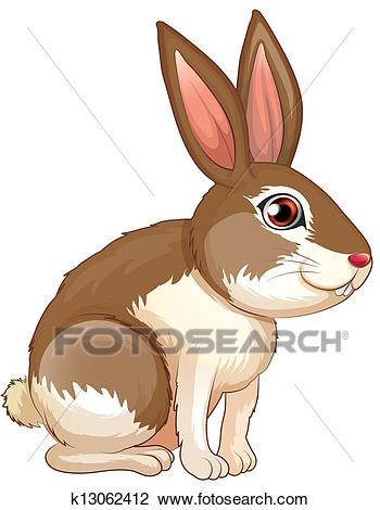 A fat brown rabbit Clipart.