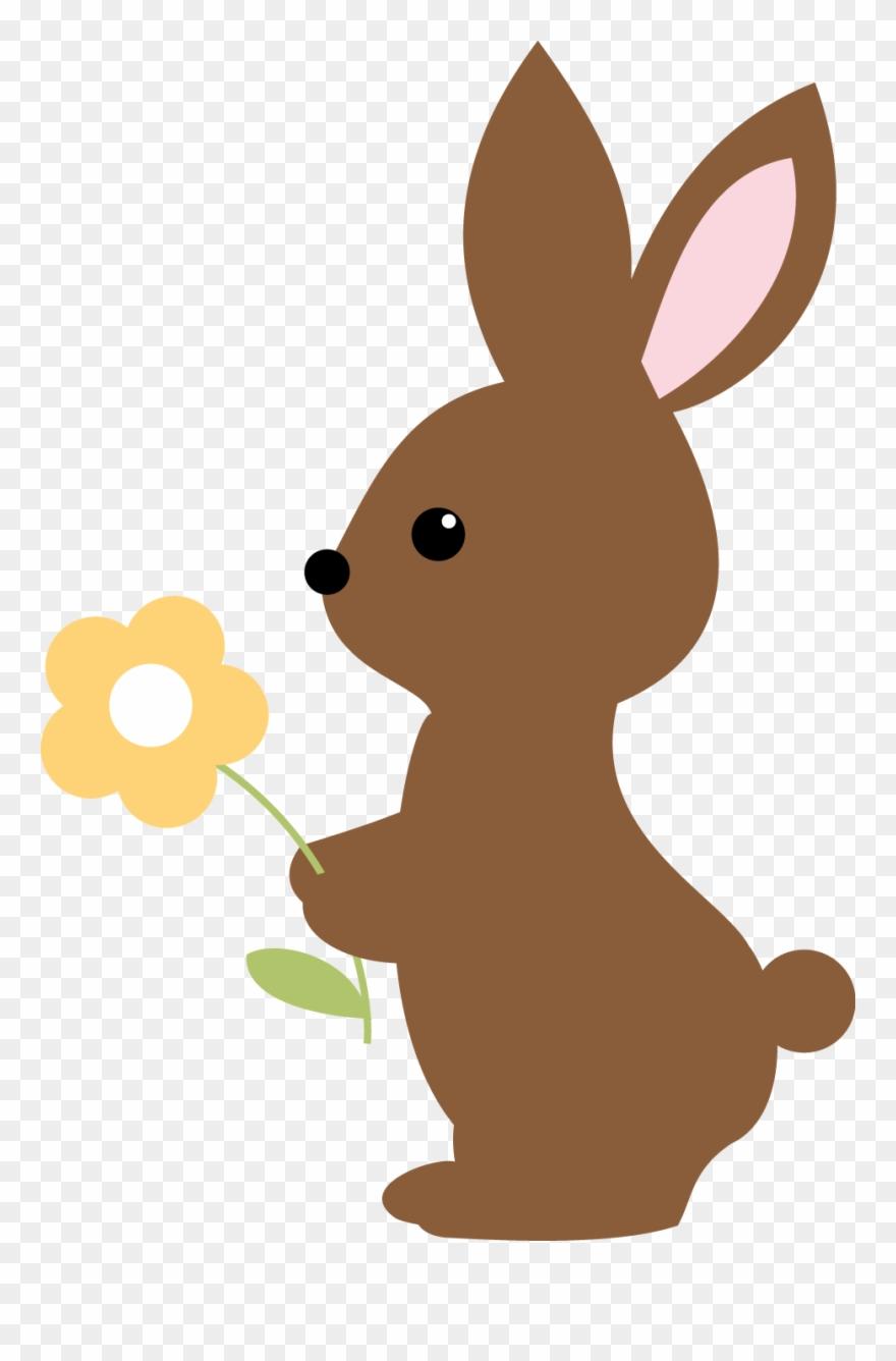 Brown Rabbit Baby Clipart.