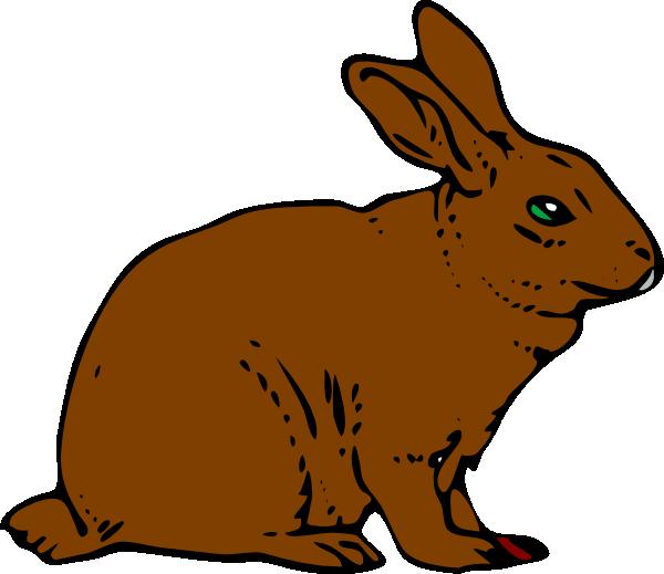 Brown Rabbit Clip Art at Clker.com.