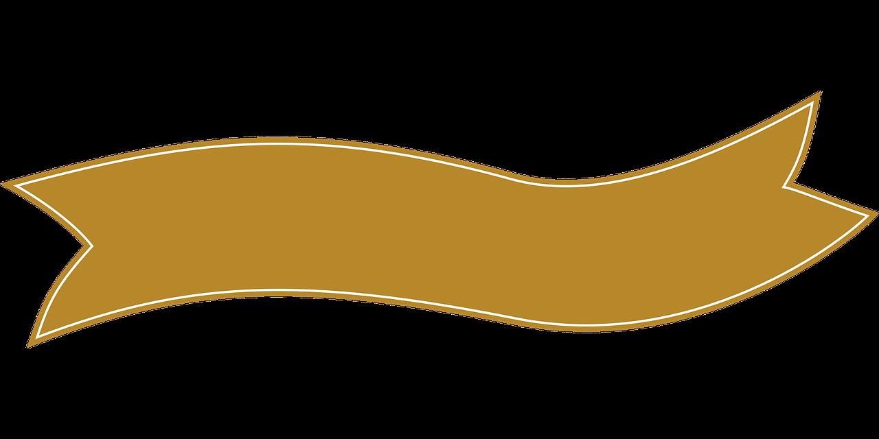 Brown ribbon.