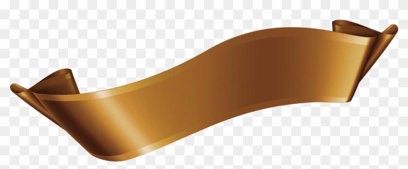 Bronze Ribbon Vector.