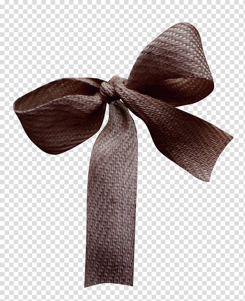 Brown ribbon Material , Brown ribbon bow transparent background PNG.