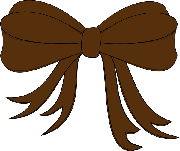 Brown Bow Ribbon PNG, SVG Clip art for Web.