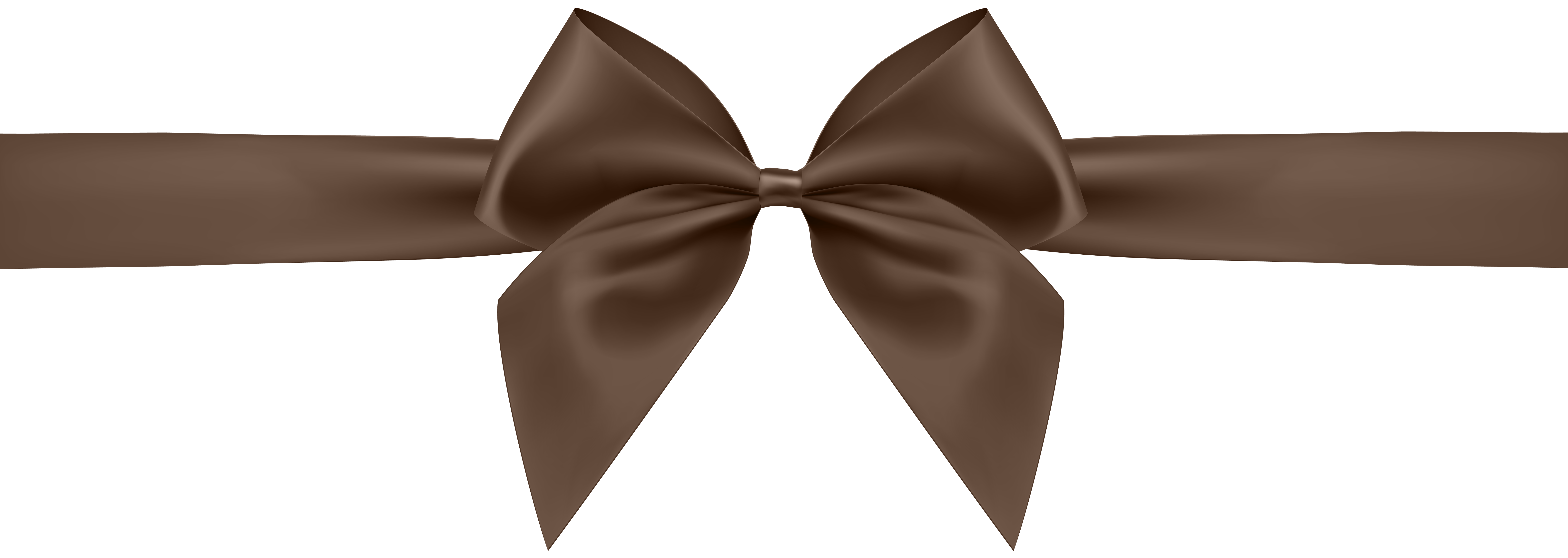 Brown Bow Transparent Clip Art Image.