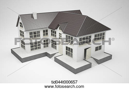 Brown house gray roof clipart.