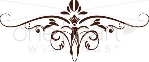 Brown Iris Scroll Clipart.