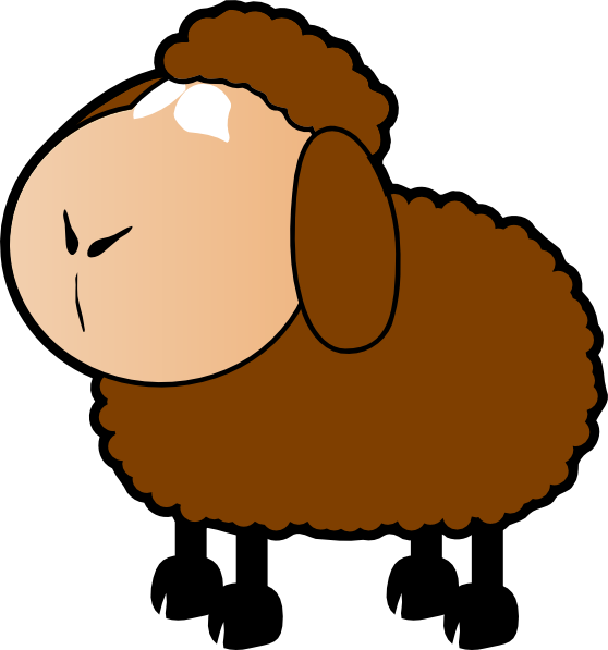 Brown Sheep Clip Art at Clker.com.