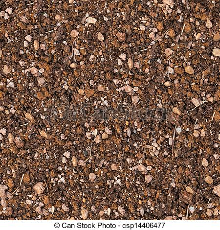 Stock Illustrations of Soil with Small Stones. Seamless Texture.