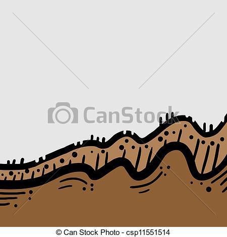 Vector Clip Art of Brown soil.