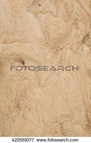 Picture of Dry agricultural brown soil detail natural background.