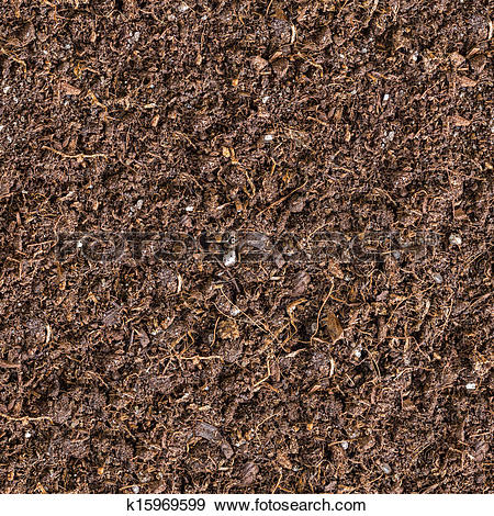 Stock Photograph of Seamless Texture of Brown Soil. k15969599.