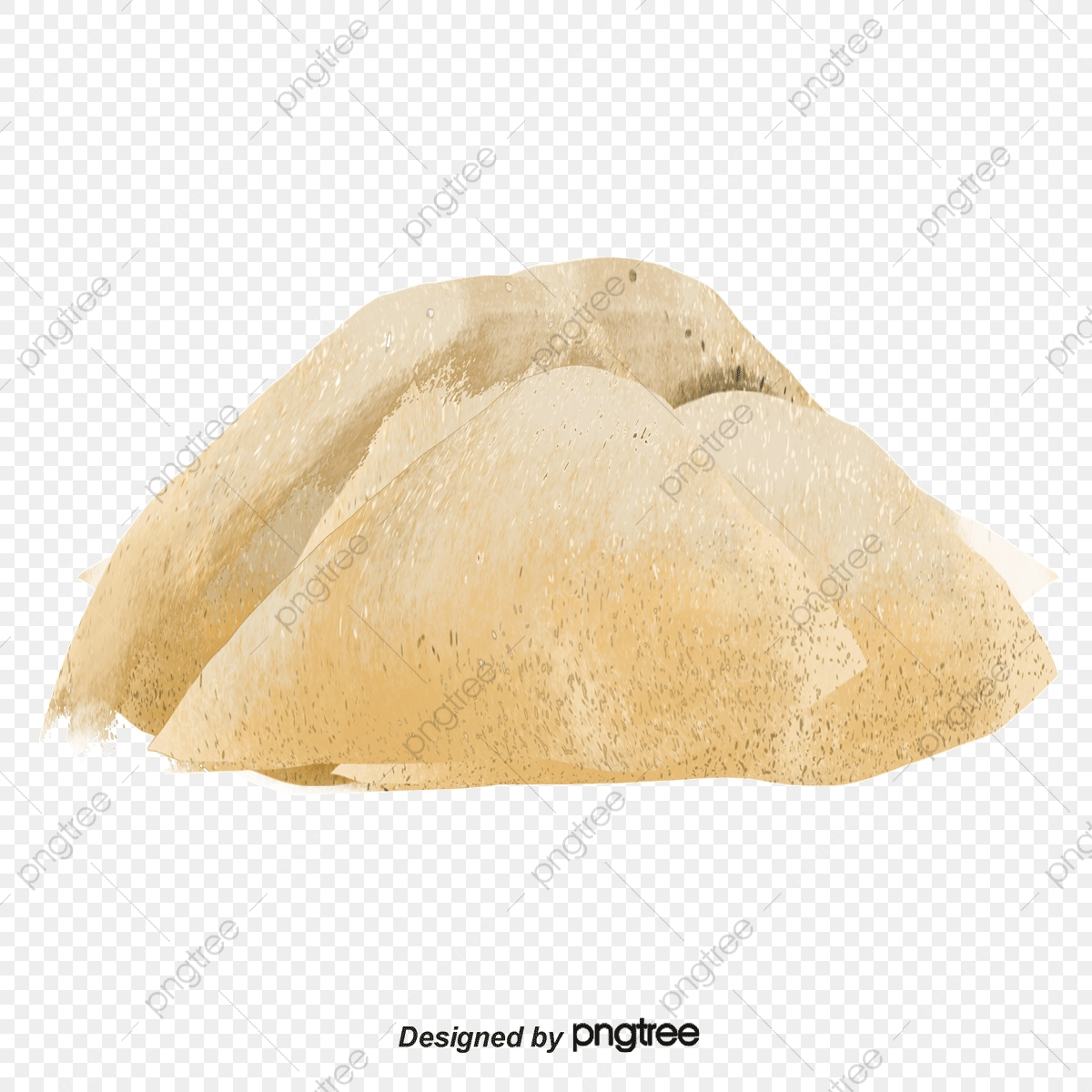 Brown Sugar Granules, Sugar Clipart, Brown Sugar, Real PNG.