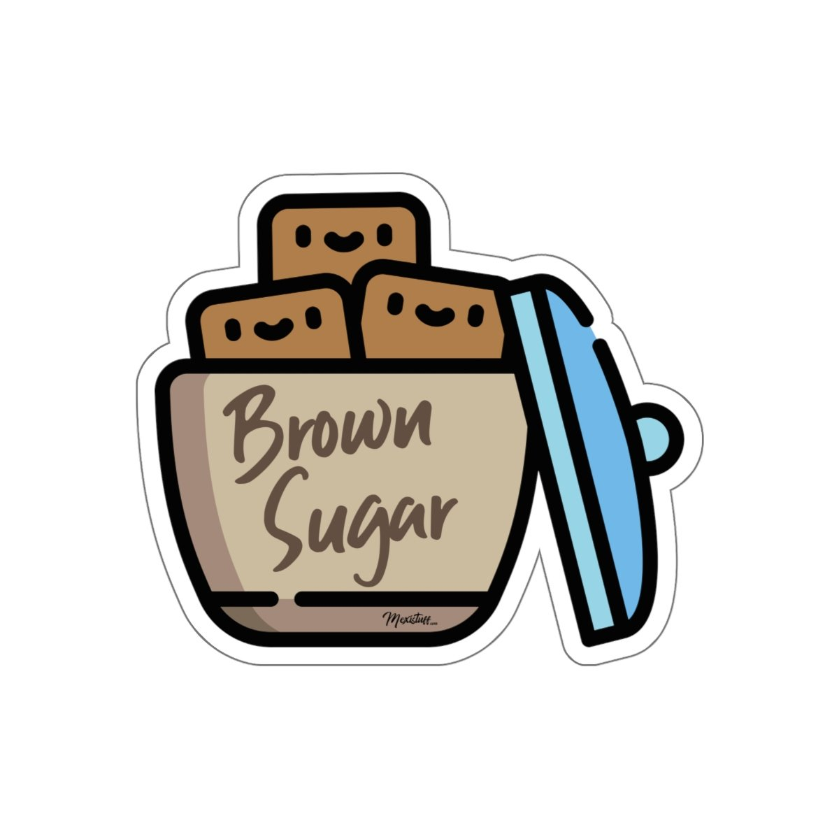 Brown Sugar Sticker.