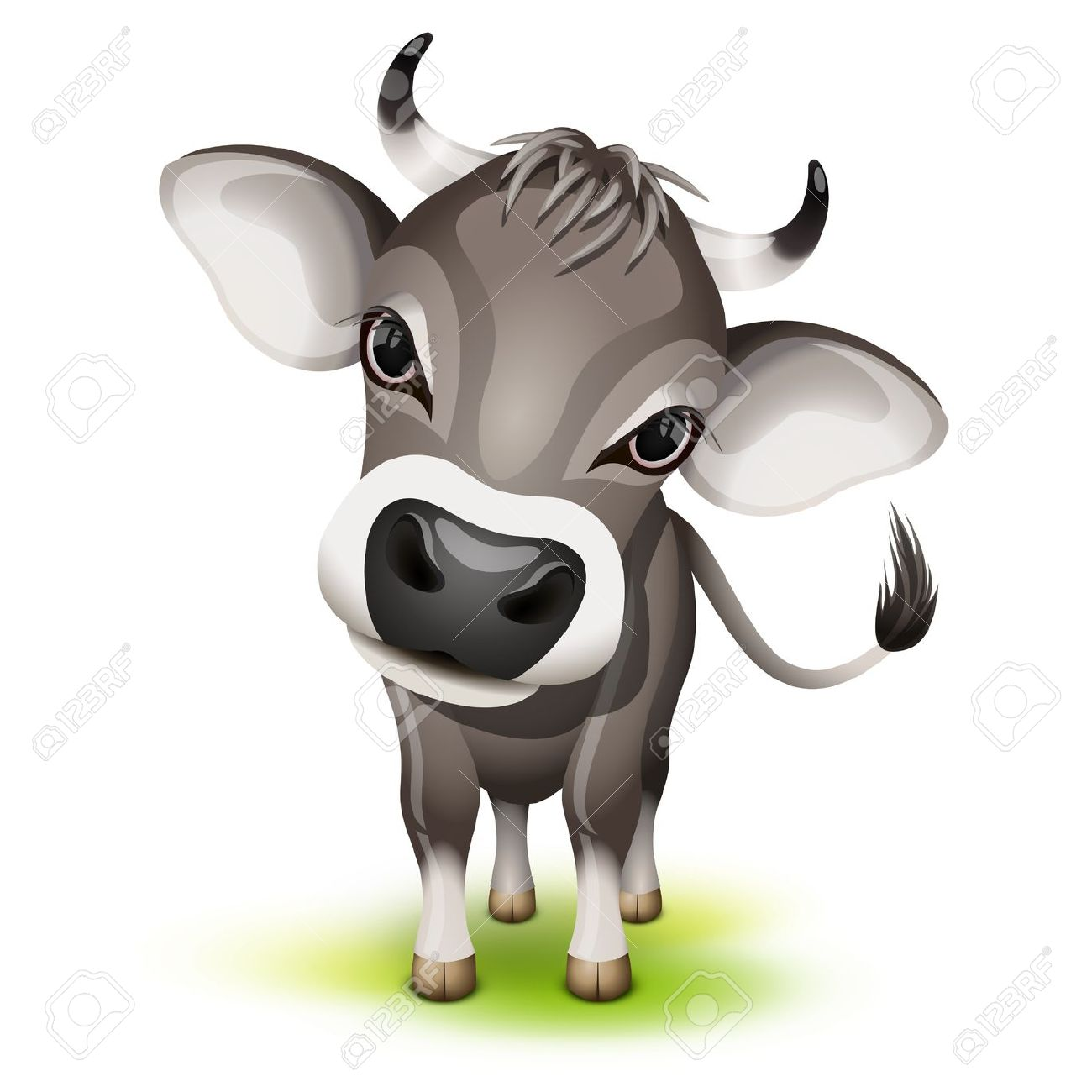 Swiss cow clipart.