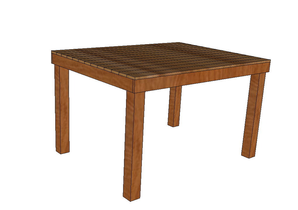 Brown Table Clipart.